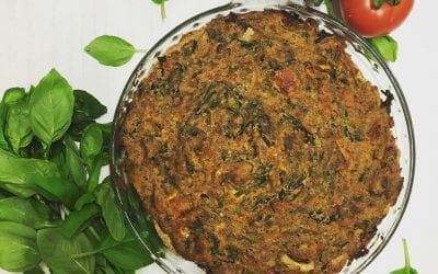 Sun-dried tomato, Mushroom and Spinach Tofu Quiche