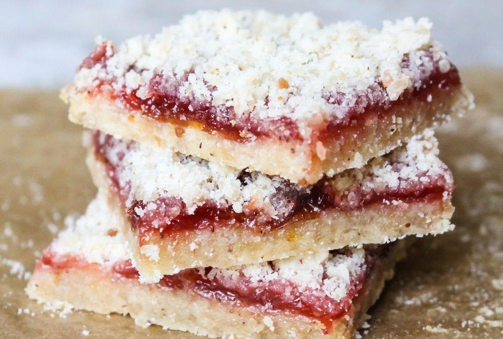 No Bake Raspberry Coconut Slice (Wheat Free & Dairy Free)