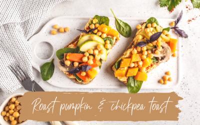 Roast Pumpkin & Chickpea Toast