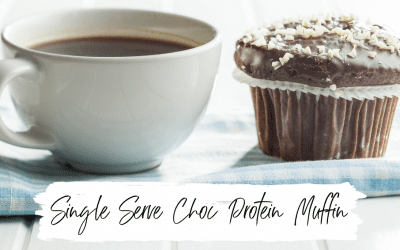 Single Serve Chocolate Protein Muffin