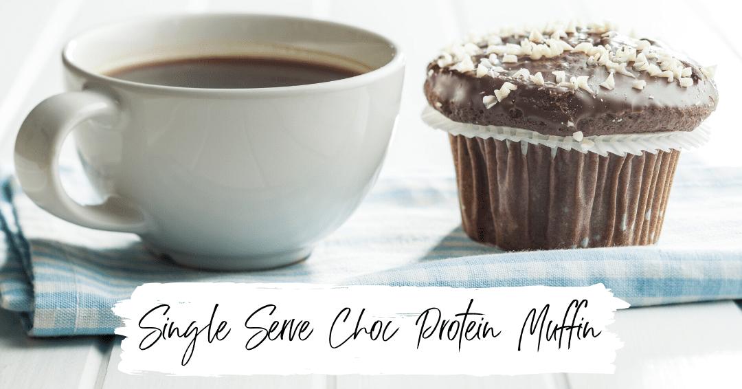 Single Serve Chocolate Protein Muffin