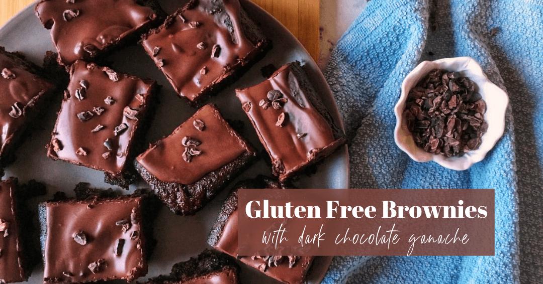 Dark Chocolate Fudge Brownies (Gluten Free and Dairy Free)