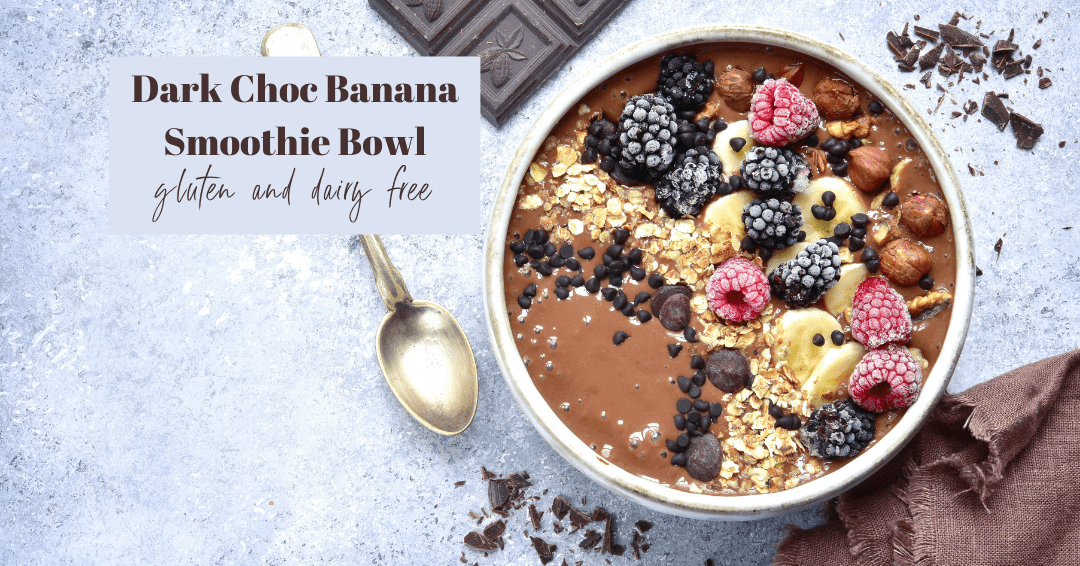 Dark Chocolate Banana Smoothie Bowl
